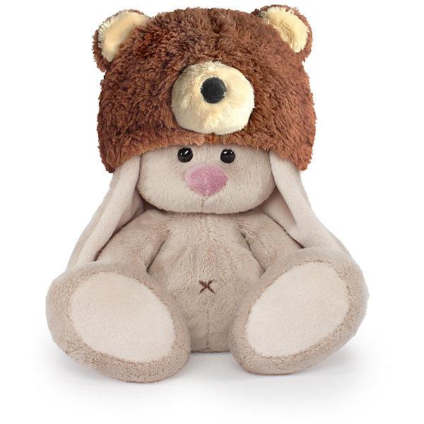 Мягкая игрушка Budi Basa Зайка Ми в шапке медвежонка, 15 смМягкие игрушки зайцы и кролики<br>Характеристики товара:<br><br>• возраст: от 3 лет;<br>• материал: текстиль, искусственный мех;<br>• высота игрушки: 15 см;<br>• размер упаковки: 14х14х13 см;<br>• вес упаковки: 250 гр.;<br>• страна производитель: Россия.<br><br>Мягкая игрушка «Зайка Ми в шапке медвежонка» Budi Basa — очаровательный пушистый зайчонок с длинными ушками. На зайке пушистая шапка в виде мордочки медвежонка с ушками. Игрушка выполнена из качественного безопасного материала, настолько приятного и мягкого, что ребенок будет брать с собой зайку в кроватку и спать в обнимку.<br><br>Мягкую игрушку «Зайка Ми в шапке медвежонка» Budi Basa можно приобрести в нашем интернет-магазине.<br><br>Ширина мм: 14<br>Глубина мм: 14<br>Высота мм: 13<br>Вес г: 250<br>Возраст от месяцев: 36<br>Возраст до месяцев: 84<br>Пол: Женский<br>Возраст: Детский<br>SKU: 7143456
