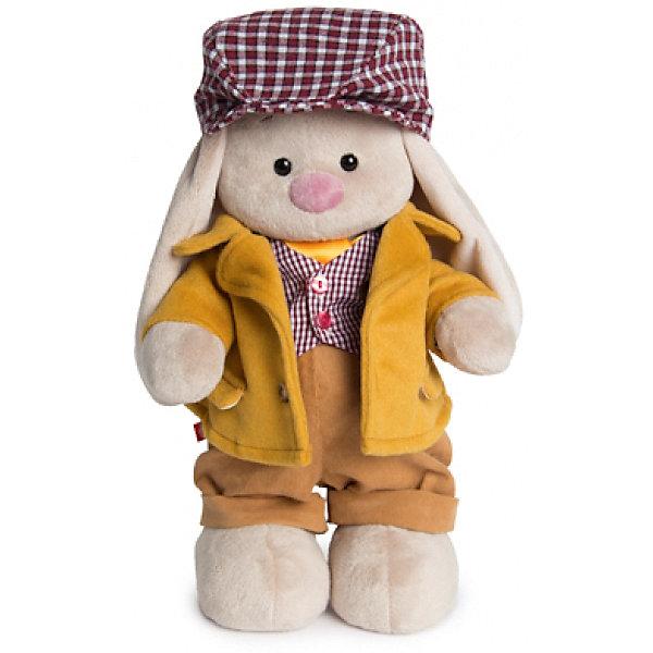 Мягкая игрушка Budi Basa Зайка Ми-мальчик Лондон, 32 смМягкие игрушки зайцы и кролики<br>Характеристики товара:<br><br>• возраст: от 3 лет;<br>• материал: текстиль, искусственный мех;<br>• высота игрушки: 32 см;<br>• размер упаковки: 34х20х17 см;<br>• вес упаковки: 666 гр.;<br>• страна производитель: Россия.<br><br>Мягкая игрушка «Зайка Ми Лондон» Budi Basa — очаровательный пушистый зайчонок с длинными ушками. Зайка Ми одета в желтый пиджак, вельветовые штанишки, клетчатую жилетку, а на голове у нее кепка. Игрушка выполнена из качественного безопасного материала, настолько приятного и мягкого, что ребенок будет брать с собой зайку в кроватку и спать в обнимку.<br><br>Мягкую игрушку «Зайка Ми Лондон» Budi Basa можно приобрести в нашем интернет-магазине.<br><br>Ширина мм: 34<br>Глубина мм: 20<br>Высота мм: 17<br>Вес г: 666<br>Возраст от месяцев: 36<br>Возраст до месяцев: 84<br>Пол: Женский<br>Возраст: Детский<br>SKU: 7143458