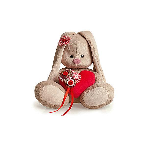 Мягкая игрушка Budi Basa Зайка Ми с сердечком, 23 смМягкие игрушки животные<br>Характеристики товара:<br><br>• возраст: от 3 лет;<br>• материал: текстиль, искусственный мех;<br>• высота игрушки: 23 см;<br>• размер упаковки: 18х18х17 см;<br>• вес упаковки: 466 гр.;<br>• страна производитель: Россия.<br><br>Мягкая игрушка «Зайка Ми с сердечком» Budi Basa — очаровательный пушистый зайчонок с длинными ушками. В лапках зайка держит мягкое сердечко, украшенное цветами, а на ушке красный цветочек. Игрушка выполнена из качественного безопасного материала, настолько приятного и мягкого, что ребенок будет брать с собой зайку в кроватку и спать в обнимку.<br><br>Мягкую игрушку «Зайка Ми с сердечком» Budi Basa можно приобрести в нашем интернет-магазине.<br><br>Ширина мм: 18<br>Глубина мм: 17<br>Высота мм: 18<br>Вес г: 466<br>Возраст от месяцев: 36<br>Возраст до месяцев: 84<br>Пол: Женский<br>Возраст: Детский<br>SKU: 7143469