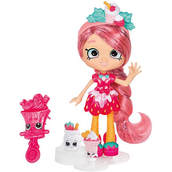 Мини-кукла Moose Shopkins Shoppies Цветочная Люси Смузи, 15 смКуклы<br>Характеристики товара:<br><br>• возраст: от 5 лет;<br>• высота куклы:  15 см;<br>• материал: пластик;<br>• упаковка: картонная коробка;<br>• размер упаковки: 17х27х6 см.;<br>• вес: 240 гр.;<br>• наименование бренда, страна бренда: Moose (Мус), Австралия;<br>• страна изготовитель: Китай.<br><br>Кукла Shoppies «Люси Смузи (lusy Smoothie)» - это игровой набор из очаровательная куклы с удивиельными волосами, расчески, а также 2 фигурок Shopkins. В набор также входит специальная подставка, на которую можно установить куклу. <br><br>Кукла по имени Люси Смузи станет доброй подружкой маленькой девочке. Люси Смузи - яркая, активная и веселая героиня, в наряде клубнички, всегда угощает своих гостей вкусными десертами. Она неравнодушна к аксессуарам в виде ягод и розовому цвету.<br> <br>С помощью игрушек от знаменитого бренда Moose можно собирать большую коллекцию и придумывать различные интересные сюжеты для игры с ними. Они изготовлены из высококачественных материалов, безопасных для детского здоровья. <br><br>Игры с куклами прекрасно развивают мелкую моторику рук, внимательность, образное мышление, познавательный интерес, обогащают словарный запас.<br><br>Куклу Shoppies «Люси Смузи (lusy Smoothie)», 15 см., Moose (Мус) можно купить в нашем интернет-магазине.<br>Ширина мм: 170; Глубина мм: 67; Высота мм: 270; Вес г: 240; Возраст от месяцев: 60; Возраст до месяцев: 2147483647; Пол: Женский; Возраст: Детский; SKU: 7143853;