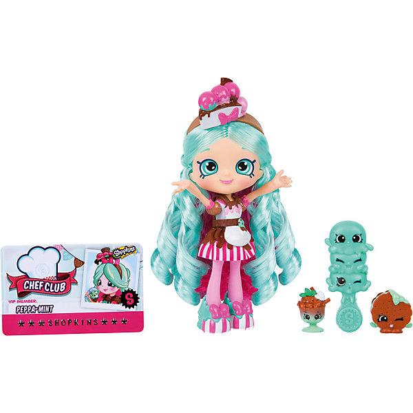 Мини-кукла Moose Shopkins Shoppies Кулинарный клуб Пеппа-минт, 13 см