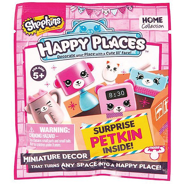 Фигурка Moose Shopkins Счастливые места Petkins (в закрытом пакете)Коллекционные фигурки<br>Характеристики товара:<br><br>• возраст: от 5 лет;<br>• количество фигурок:  1 шт;<br>• размер фигурки: 2,5 см.;<br>• материал: пластик;<br>• упаковка: фольгированный пакет;<br>• размер упаковки: 10х12х3 см.;<br>• вес: 20 гр.;<br>• наименование бренда, страна бренда: Moose (Мус), Австалия;<br>• страна изготовитель: Китай.<br><br>Фигурка «Petkins Happy Places» в фольгированном пакетике - это фигурка очаровательного персонажа популярной линии детских игрушек от знаменитого бренда Moose. Новые фигурки являются разновидностью Shopkins. Серия Petkins посвящена предметам декора и мебели для дома кукол Шоппиес. <br><br>В комлект входит также и буклет коллекционера, что несомненно порадует вашего ребенка. В нем перечислены и показаны все доступные на данный момент фигурки Petkins.<br><br>Из маленьких пластиковых фигурок можно собирать большую коллекцию и придумывать различные интересные сюжеты для игры с ними. Отличное решение для развлечения с ребенком во время досуга.<br><br>Фигурки «Petkins» изготовлены из высококачественной пластмассы и запакованы в непрозрачный пакет, поэтому какая именно вам фигурка достанется остается сюрпризом.<br><br>Игры с фигурками прекрасно развивают мелкую моторику рук, внимательность, образное мышление, познавательный интерес, обогащают словарный запас.<br><br>Фигурку «Petkins Happy Places» в фольгированном пакетике, 1 шт.,  Moose (Мус) можно купить в нашем интернет-магазине.<br><br>Ширина мм: 120<br>Глубина мм: 30<br>Высота мм: 100<br>Вес г: 20<br>Возраст от месяцев: 60<br>Возраст до месяцев: 2147483647<br>Пол: Женский<br>Возраст: Детский<br>SKU: 7143858