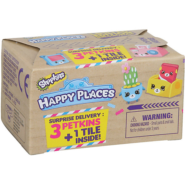 Набор посылка-сюрприз Moose Shopkins Счастливые места (в ассортименте)Коллекционные фигурки<br>Характеристики товара:<br><br>• возраст: от 5 лет;<br>• количество фигурок:  3 шт;<br>• размер фигурки: 2,5 см.;<br>• материал: пластик;<br>• упаковка: фольгированный пакет;<br>• размер упаковки: 4х7х5 см.;<br>• вес: 70 гр.;<br>• наименование бренда, страна бренда: Moose (Мус), Австалия;<br>• страна изготовитель: Китай.<br><br>Набор «Посылка-сюрприз Happy Places» упакован в коробку, оформленную в виде посылки. Комплект включает в себя 3 фигурки из серии Shopkins и строительный блок, который является одной из деталей дома для жителей Шопвиля популярной линии детских игрушек от знаменитого бренда Moose. <br><br>Из маленьких пластиковых фигурок Shopkins можно собирать большую коллекцию и придумывать различные интересные сюжеты для игры с ними. Отличное решение для развлечения с ребенком во время досуга.<br><br>Фигурки «Shopkins» изготовлены из высококачественной пластмассы и запакованы в непрозрачный пакет, поэтому какая именно вам фигурка достанется остается сюрпризом.<br><br>Игры с фигурками прекрасно развивают мелкую моторику рук, внимательность, образное мышление, познавательный интерес, обогащают словарный запас.<br><br>Набор «Посылка-сюрприз Happy Places»,  Moose (Мус) можно купить в нашем интернет-магазине.<br><br>Ширина мм: 73<br>Глубина мм: 47<br>Высота мм: 40<br>Вес г: 70<br>Возраст от месяцев: 60<br>Возраст до месяцев: 2147483647<br>Пол: Женский<br>Возраст: Детский<br>SKU: 7143859