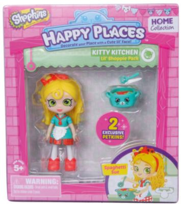 Мини-Кукла Moose Shopkins Счастливые Места Спагетти Сью И Фигурки Петкинс, 13 См