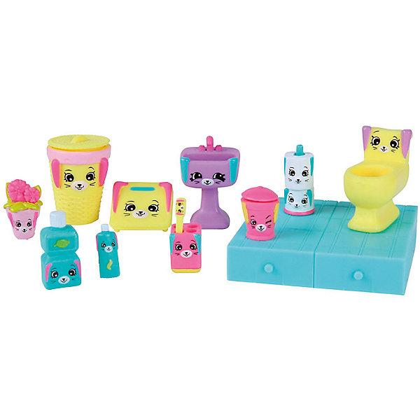 Игровой набор Moose Shopkins Счастливые места Банные зайкиИгровые наборы с фигурками<br>Характеристики товара:<br><br>• возраст: от 5 лет;<br>• количество фигурок: 15 шт;<br>• материал: пластик;<br>• упаковка: коробка блистерного типа;<br>• размер упаковки: 20х27,5х4 см.;<br>• вес: 230 гр.;<br>• наименование бренда, страна бренда: Moose (Мус), Австалия;<br>• страна изготовитель: Китай.<br><br>Набор для декора «Банные зайки» Happy Places - комплект миниатюрной мебели и аксессуаров, который замечательно дополнит ванную комнату уютного дома любимых куколок. В комплекте 12 эксклюзивных фигурок Петкинс с милой мордочкой зайки разных размеров, 2 плитки, позволяющие увеличить свободное пространство дома, красочный каталог и волшебная коробочка с сюрпризом (3 секретные фигурки дополнительно).<br><br>Очаровательный комплект, включающий в себя эксклюзивные фигурки мебели и аксессуаров, с помощью которых малышка вовлечется в увлекательную и познавательную игру.<br><br>Из маленьких пластиковых фигурок Petkins можно собирать большую коллекцию и придумывать различные интересные сюжеты для игры с ними. Отличное решение для развлечения с ребенком во время досуга.<br><br>Игры с фигурками прекрасно развивают мелкую моторику рук, внимательность, образное мышление, познавательный интерес, обогащают словарный запас.<br><br>Набор для декора «Банные зайки» Happy Places, Moose (Мус) можно купить в нашем интернет-магазине.<br>Ширина мм: 275; Глубина мм: 40; Высота мм: 200; Вес г: 230; Возраст от месяцев: 60; Возраст до месяцев: 2147483647; Пол: Женский; Возраст: Детский; SKU: 7143868;
