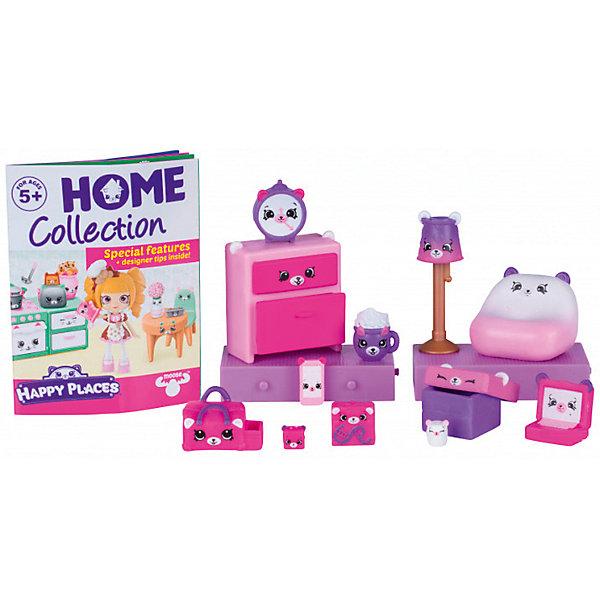 Игровой набор Moose Shopkins Счастливые места Пижамная вечеринка с мишкамиИгровые наборы с фигурками<br>Характеристики товара:<br><br>• возраст: от 5 лет;<br>• количество фигурок:  15 шт;<br>• материал: пластик;<br>• упаковка: коробка блистерного типа;<br>• размер упаковки: 25х25х6 см.;<br>• вес: 450 гр.;<br>• наименование бренда, страна бренда: Moose (Мус), Австалия;<br>• страна изготовитель: Китай.<br><br>Набор для декора «Пижамная вечеринка с мишками» Happy Places от торговой марки Moose порадует любую девочку. В наборе есть все необходимое для создания идеальной пижамной вечеринки, на которую малышка может пригласить любимых куколок. Комплект состоит из 12 эксклюзивных фигурок Petkins разных размеров с милыми мордочками мишек, из 2 блоков, которые позволят увеличить пространство дома и коробки-сюрприза (3 секретные фигурки дополнительно). <br><br>Очаровательный комплект, включающий в себя эксклюзивные фигурки и аксессуаров, с помощью которых малышка вовлечется в увлекательную и познавательную игру. <br><br>Из маленьких пластиковых фигурок Petkins можно собирать большую коллекцию и придумывать различные интересные сюжеты для игры с ними. Отличное решение для развлечения с ребенком во время досуга.<br><br>Набор для декора «Пижамная вечеринка с мишками» Happy Places,  Moose (Мус) можно купить в нашем интернет-магазине.<br><br>Ширина мм: 275<br>Глубина мм: 40<br>Высота мм: 200<br>Вес г: 230<br>Возраст от месяцев: 60<br>Возраст до месяцев: 2147483647<br>Пол: Женский<br>Возраст: Детский<br>SKU: 7143870