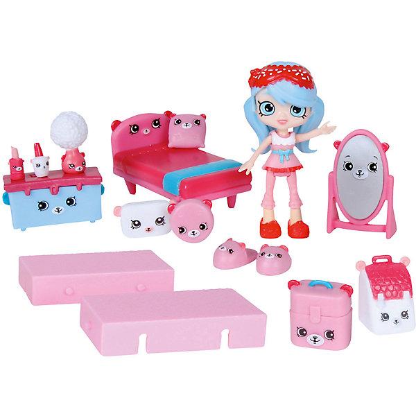 Игровой игровой Moose Shopkins Счастливые места Любимый медвежонокПопулярные игрушки<br>Характеристики товара:<br><br>• возраст: от 5 лет;<br>• комплект: 1 кукла, 13 фигурок;<br>• материал: пластик;<br>• упаковка: коробка блистерного типа;<br>• размер упаковки: 20х27,5х4 см.;<br>• вес: 230 гр.;<br>• наименование бренда, страна бренда: Moose (Мус), Австалия;<br>• страна изготовитель: Китай.<br><br>Игровой набор «Любимый медвежонок» Happy Places от торговой марки Moose порадует девочку множеством красивых предметов и широкими игровыми возможностями. Фигурка девочки, мебель, чемоданы, подушки, лампа, тапочки и другие аксессуары украшены изображением миловидной мордочки животного. У фигурки двигаются ручки и ножки, поэтому она может принимать разные игровые позы. <br><br>Очаровательный комплект, включающий в себя эксклюзивные фигурки и аксессуары, с помощью которых малышка вовлечется в увлекательную и познавательную игру. <br><br>Из маленьких пластиковых фигурок Petkins можно собирать большую коллекцию и придумывать различные интересные сюжеты для игры с ними. Отличное решение для развлечения с ребенком во время досуга.<br><br>Игровой набор «Любимый медвежонок» Happy Places ,  Moose (Мус) можно купить в нашем интернет-магазине.<br>Ширина мм: 250; Глубина мм: 63; Высота мм: 250; Вес г: 450; Возраст от месяцев: 60; Возраст до месяцев: 2147483647; Пол: Женский; Возраст: Детский; SKU: 7143871;