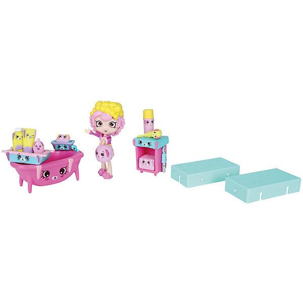 Игровой игровой Moose Shopkins Счастливые места Купание кроликаНаборы с куклой<br>Характеристики товара:<br><br>• возраст: от 5 лет;<br>• материал: пластик;<br>• упаковка: коробка блистерного типа;<br>• размер упаковки: 20х27,5х4 см.;<br>• вес: 230 гр.;<br>• наименование бренда, страна бренда: Moose (Мус), Австалия;<br>• страна изготовитель: Китай.<br><br>Игровой набор «Купание кролика» Happy Places от торговой марки Moose представляет собой фигурку девочки, ее питомца, ванну, тумбочку и различные банные принадлежности. Каждый предмет сделан из высококачественного пластика с точной проработкой и исполнен в забавном мультяшном дизайне, что понравится девочке и не останется у нее без внимания. У фигурки девочки двигаются ручки и ножки, поэтому она может принимать разные игровые позы.  <br><br>Очаровательный комплект, включающий в себя эксклюзивные фигурки и аксессуары, с помощью которых малышка вовлечется в увлекательную и познавательную игру. <br><br>Игры с фигурками прекрасно развивают мелкую моторику рук, внимательность, образное мышление, познавательный интерес, обогащают словарный запас.<br><br>Игровой набор «Купание кролика» Happy Places ,  Moose (Мус) можно купить в нашем интернет-магазине.<br><br>Ширина мм: 250<br>Глубина мм: 63<br>Высота мм: 250<br>Вес г: 450<br>Возраст от месяцев: 60<br>Возраст до месяцев: 2147483647<br>Пол: Женский<br>Возраст: Детский<br>SKU: 7143873