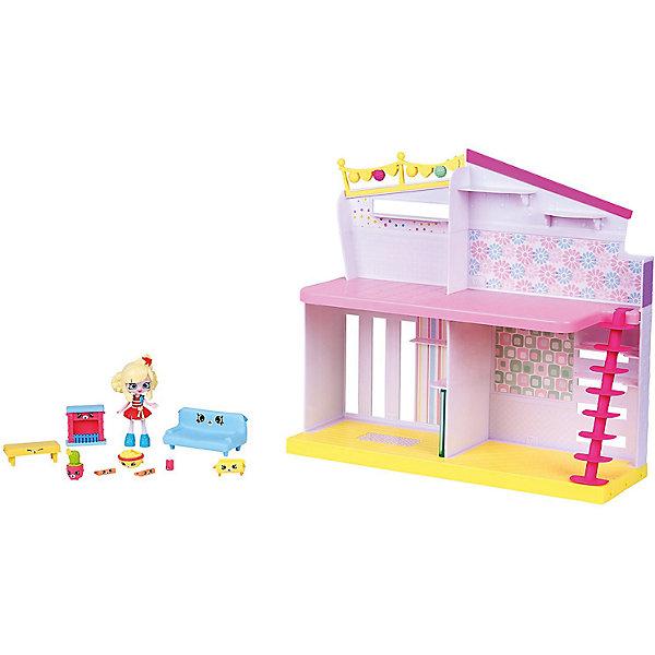Игровой игровой Moose Shopkins Счастливые места Уютный Дом, ПопеттаПопулярные игрушки<br>Характеристики товара:<br><br>• возраст: от 5 лет;<br>• материал: пластик;<br>• упаковка: коробка блистерного типа;<br>• размер упаковки: 32х42,5х13,5 см.;<br>• вес: 1,3 кг.;<br>• наименование бренда, страна бренда: Moose (Мус), Австалия;<br>• страна изготовитель: Китай.<br><br>Игровой набор «Уютный Дом» от торговой марки Moose очень понравится многим девочкам. Представленный игровой набор выполнен в виде уютного жилища милой героини по имени Popette, у которой двигаются ручки и ножки, поэтому она может принимать разные игровые позы. <br><br>У нее роскошный двухэтажный домик со всеми удобствами, где она привыкла проводить свое время. Домик состоит из четырех комнат - спальни, ванной, гостиной и кухни. Все комнаты заполнены игрушечной мебелью, которую можно расставить по своему вкусу. <br><br>Каждая девочка будет с удовольствием играть с таким набором, придумывая увлекательные сюжеты. Игры с фигурками прекрасно развивают мелкую моторику рук, внимательность, образное мышление, познавательный интерес, обогащают словарный запас.<br><br>Игровой набор «Уютный Дом»,  Moose (Мус) можно купить в нашем интернет-магазине.<br>Ширина мм: 425; Глубина мм: 135; Высота мм: 320; Вес г: 1320; Возраст от месяцев: 60; Возраст до месяцев: 2147483647; Пол: Женский; Возраст: Детский; SKU: 7143874;