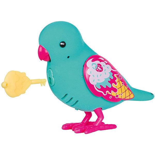 Интерактивная птичка Moose Little Live Pets Secret Sweety, голубая (звук, запись)Интерактивные животные<br>Характеристики товара:<br><br>• возраст: от 5 лет;<br>• материал: пластик;<br>• тип батареек: 2 батарейки ААА;<br>• наличие батареек: в комплект не входят;<br>• размер упаковки: 22х14х5,5 см;<br>• вес упаковки: 140 гр.;<br>• страна производитель: Китай.<br><br>Интерактивная птичка Moose Little Live Pets Secret Sweetie — интерактивная игрушка в виде птички с яркими разноцветными крылышками. Если погладить птичку, то она запоет. Если гладить ее некоторое время, то зазвучит мелодия. Птичка умеет запоминать и повторять сказанные фразы. Нужно просто нажать кнопочку у нее на груди. Кроме этого, в комплекте с птичкой необычный ключик. Ребенок может записать секретную фразу, которую птичка произнесет, только если повернуть ключик. Игрушка выполнена из качественных материалов.<br><br>Интерактивную птичку Moose Little Live Pets Secret Sweetie можно приобрести в нашем интернет-магазине.<br><br>Ширина мм: 140<br>Глубина мм: 55<br>Высота мм: 220<br>Вес г: 140<br>Возраст от месяцев: 60<br>Возраст до месяцев: 120<br>Пол: Унисекс<br>Возраст: Детский<br>SKU: 7144240