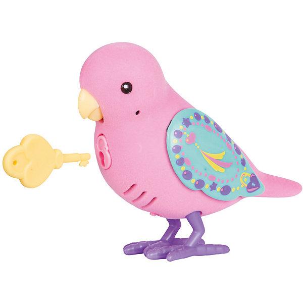 Интерактивная птичка Moose Little Live Pets Loyal Lulu, розовая (звук, запись)Интерактивные животные<br>Характеристики товара:<br><br>• возраст: от 5 лет;<br>• материал: пластик;<br>• тип батареек: 2 батарейки ААА;<br>• наличие батареек: в комплект не входят;<br>• размер упаковки: 22х14х5,5 см;<br>• вес упаковки: 140 гр.;<br>• страна производитель: Китай.<br><br>Интерактивная птичка Moose Little Live Pets Loyal Lulu — интерактивная игрушка в виде птички с яркими разноцветными крылышками. Если погладить птичку, то она запоет. Если гладить ее некоторое время, то зазвучит мелодия. Птичка умеет запоминать и повторять сказанные фразы. Нужно просто нажать кнопочку у нее на груди. Кроме этого, в комплекте с птичкой необычный ключик. Ребенок может записать секретную фразу, которую птичка произнесет, только если повернуть ключик. Игрушка выполнена из качественных материалов.<br><br>Интерактивную птичку Moose Little Live Pets Loyal Lulu можно приобрести в нашем интернет-магазине.<br><br>Ширина мм: 140<br>Глубина мм: 55<br>Высота мм: 220<br>Вес г: 140<br>Возраст от месяцев: 60<br>Возраст до месяцев: 120<br>Пол: Унисекс<br>Возраст: Детский<br>SKU: 7144241