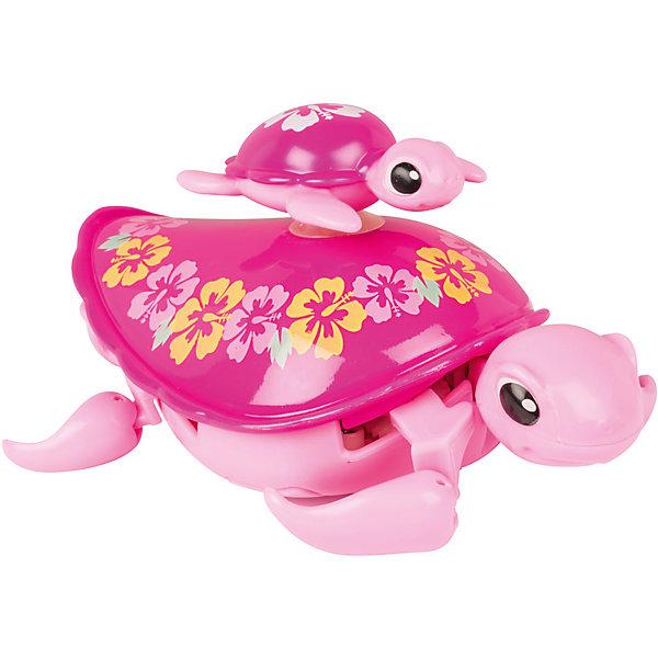 Интерактивная игрушка Moose Little Live Pets Черепашка с малышом, розоваяИнтерактивные животные<br>Характеристики товара:<br><br>• возраст: от 5 лет;<br>• материал: пластик;<br>• в комплекте: 2 черепашки;<br>• тип батареек: 1 батарейка ААА;<br>• наличие батареек: в комплект не входят;<br>• размер упаковки: 22х18х5 см;<br>• вес упаковки: 166 гр.;<br>• страна производитель: Китай.<br><br>Интерактивная черепашка с малышом Moose Little Live Pets розовая — удивительная черепашка с ярким разноцветным панцирем. На панцире черепашки-мамы катается ее малыш. Он крепится на панцирь с помощью присоски. Черепашка умеет не только двигаться по суше, но и плавать на воде, передвигая лапками. Игрушка выполнена из качественных безопасных материалов.<br><br>Интерактивную черепашку с малышом Moose Little Live Pets розовую можно приобрести в нашем интернет-магазине.<br><br>Ширина мм: 180<br>Глубина мм: 50<br>Высота мм: 220<br>Вес г: 166<br>Возраст от месяцев: 60<br>Возраст до месяцев: 120<br>Пол: Унисекс<br>Возраст: Детский<br>SKU: 7144246