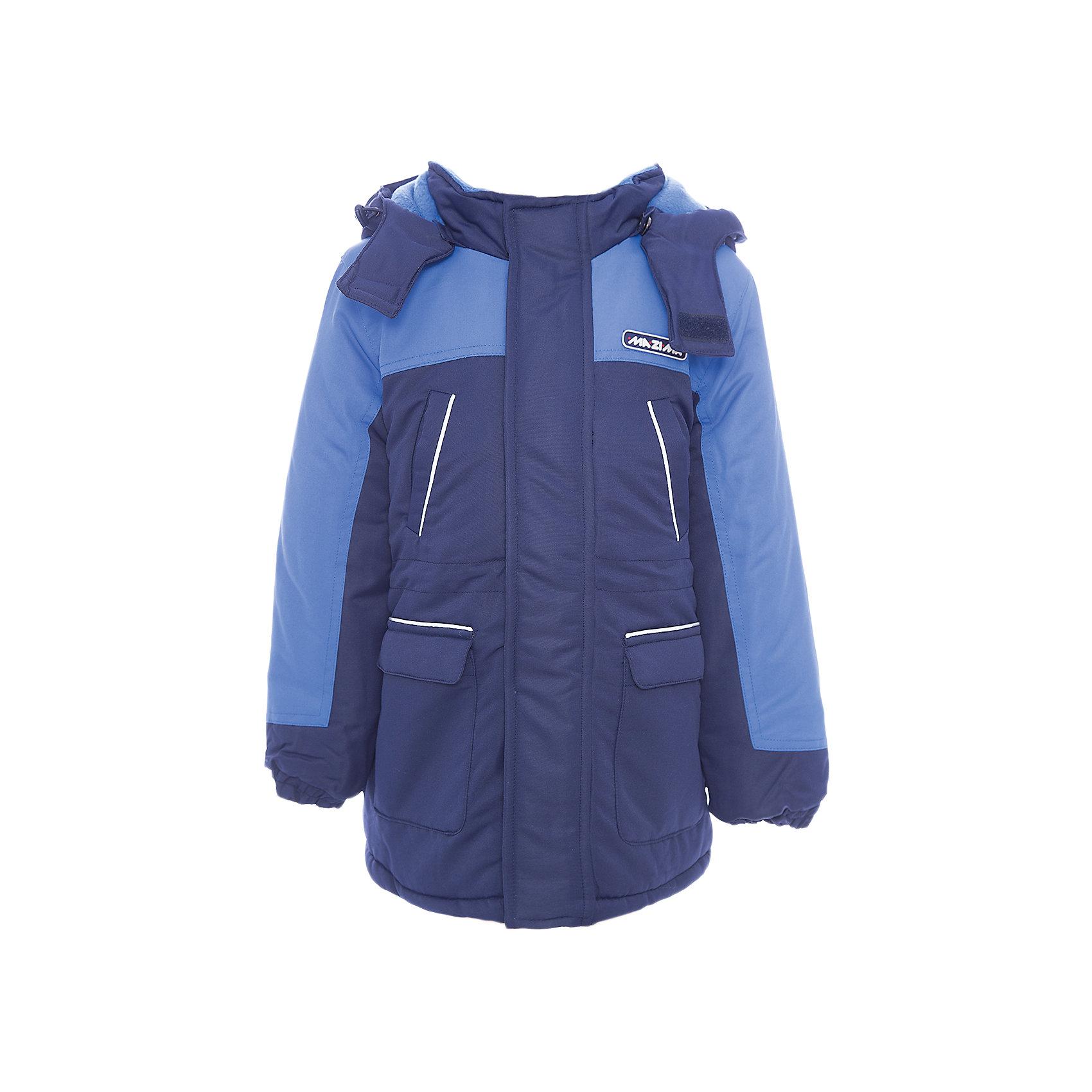 Куртка-парка Ma-Zi-Ma для мальчикаВерхняя одежда<br>Характеристики товара:<br><br>• цвет: синий<br>• состав ткани: 100% полиэстер с водоотталкивающей пропиткой <br>• подкладка: поларфлис <br>• утеплитель: полиэстер<br>• сезон: зима<br>• температурный режим: от -30 до +5<br>• водонепроницаемость: 1000 мм <br>• паропроницаемость: 1000 г/м2<br>• плотность утеплителя: куртка - 280 г/м2, брюки - 200 г/м2<br>• капюшон: съемный, без меха<br>• застежка: молния<br>• страна бренда: Россия<br>• страна изготовитель: Китай<br><br>Синяя теплая куртка-парка для мальчика позволит в холода создать ребенку комфортные условия. Верх детской зимней куртки - с водонепроницаемой пропиткой. Качественный наполнитель детской парки для зимы легкий и теплый. Куртка-парка для зимы дополнена элементами, защищающими от попадания внутрь снега.<br><br>Куртку-парку Ma-Zi-Ma (Ма-Зи-Ма) для мальчика можно купить в нашем интернет-магазине.<br><br>Ширина мм: 356<br>Глубина мм: 10<br>Высота мм: 245<br>Вес г: 519<br>Цвет: голубой<br>Возраст от месяцев: 84<br>Возраст до месяцев: 96<br>Пол: Мужской<br>Возраст: Детский<br>Размер: 128,134,140,146,152,104,110,116,122<br>SKU: 7144444