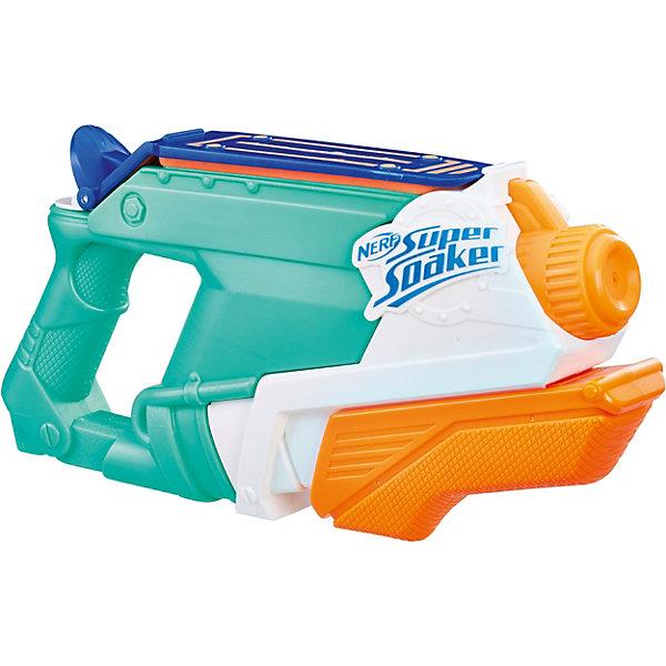 Бластер Nerf Super Soaker SplashMouthИгрушечные пистолеты и бластеры<br>Характеристики товара:<br><br>• возраст: от 6 лет;<br>• материал: пластик;<br>• в комплекте: бластер;<br>• размер упаковки: 30,5х18,8х6 см;<br>• вес упаковки: 400 гр.<br><br>Бластер Nerf Super Soaker SplashMouth — водный бластер для активных игр летом на свежем воздухе. Бластер оснащен удобной рукояткой и резервуаром для воды, вмещающим 590 мл. Для того, чтобы выпустить струю воды, нужно потянуть рычажок внизу бластера. Выполнен бластер из качественного пластика.<br><br>Бластер Nerf Super Soaker SplashMouth можно приобрести в нашем интернет-магазине.<br>Ширина мм: 315; Глубина мм: 60; Высота мм: 163; Вес г: 380; Возраст от месяцев: 72; Возраст до месяцев: 144; Пол: Мужской; Возраст: Детский; SKU: 7146114;
