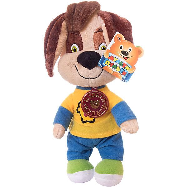Мягкая игрушка Мульти-Пульти Барбоскины Дружок, 26 см (звук, в пакете)Символ 2018 года: Собака<br>Характеристики:<br><br>• возраст: от 3 лет<br>• материал: текстиль, синтепон<br>• высота игрушки: 26 см.<br>• тип питания: на батарейках<br>• наличие батареек: входят в комплект<br>• упаковка: пакет<br><br>Мягкая игрушка выполнена в виде героя мультсериала «Барбоскины» - Дружка. Игрушка в точности напоминает свой экранный прототип. Дружок умеет разговаривать, достаточно нажать на его животик, как вы услышите фразы из мультсериала. Всего игрушка произносит 7 фраз и поет 1 песенку.<br><br>Игрушка изготовлена из качественных материалов, наполнитель – гипоаллергенный синтепон.<br><br>Мягкую игрушку Барбоскины. Дружок, озвученную можно купить в нашем интернет-магазине.<br><br>Ширина мм: 300<br>Глубина мм: 80<br>Высота мм: 230<br>Вес г: 140<br>Возраст от месяцев: 36<br>Возраст до месяцев: 84<br>Пол: Унисекс<br>Возраст: Детский<br>SKU: 7168166