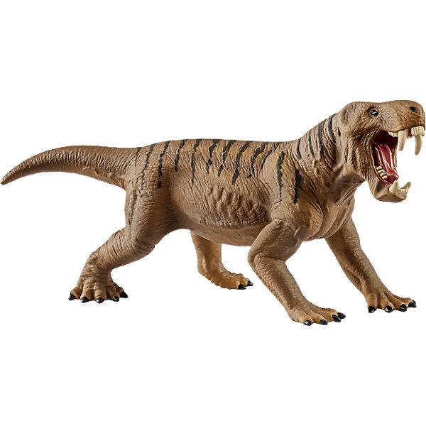 Коллекционная фигурка Schleich Динозавры ДиногоргонМир животных<br>Характеристики:<br><br>• возраст: от 3 лет;<br>• материал: каучуковый пластик;<br>• размер игрушки: 13,1х4,4х6,3 см;<br>• размер упаковки: 13,1х4,4х6,3 см;<br>• страна бренда: Германия.<br><br>Фигурка от бренда Schleich – детализированная копия вымершего диногоргона. Фигурка с точностью передает особенности строения тела животного, внешний вид кожи, характерную позу.<br><br>В изготовлении каждой фигурки «Шляйх» учитываются рекомендации педагогики для того, чтобы игрушка была интересна и полезна ребенку, комфортно располагалась в руках. Фигурка раскрашена вручную, сделана из прочных безопасных материалов, не вызывающих аллергию. Разработано при участии музея зоологии.<br><br>Фигурка подойдет для сюжетно-ролевых игр, а также может стать частью большой коллекции реалистичных копий животных Schleich.<br><br>Фигурку Schleich Диногоргон можно купить в нашем интернет-магазине.<br>Ширина мм: 152; Глубина мм: 78; Высота мм: 48; Вес г: 70; Возраст от месяцев: 60; Возраст до месяцев: 144; Пол: Мужской; Возраст: Детский; SKU: 7168259;