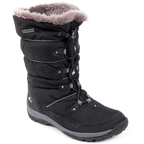 Сапоги Jade GTX Viking для девочкиСапоги<br>Характеристики товара:<br><br>• цвет: черный<br>• внешний материал: искусственная кожа, текстиль<br>• внутренний материал: полиэстер<br>• стелька: полиэстер<br>• подошва: EVA, натуральная резина<br>• сезон: зима<br>• мембранные <br>• температурный режим: от -25 до +5<br>• особенности модели: спортивный стиль<br>• застежка: шнурки<br>• защита мыса <br>• подошва не скользит<br>• анатомические<br>• высокие<br>• страна бренда: Норвегия<br>• страна изготовитель: Вьетнам<br><br>Высокие мембранные сапоги для детей обеспечат комфорт ногам даже в сильный мороз. Модные сапоги от бренда Viking легко надеваются благодаря удобной застежке. Детские сапоги обеспечивают ногам тепло вследствие наличия мембраны. Эти сапоги Viking не скользят из-за особого дизайна подошвы.<br><br>Сапоги Jade GTX Viking (Викинг) для девочки можно купить в нашем интернет-магазине.<br>Ширина мм: 262; Глубина мм: 176; Высота мм: 97; Вес г: 427; Цвет: черный; Возраст от месяцев: 60; Возраст до месяцев: 72; Пол: Женский; Возраст: Детский; Размер: 29,41,30,31,32,33,34,35,36,37,38,39,40; SKU: 7168940;