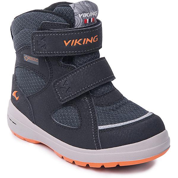 Ботинки Ondur GTX Viking для мальчикаБотинки<br>Характеристики товара:<br><br>• цвет: черный<br>• внешний материал: экозамша, текстиль<br>• внутренний материал: полиэстер<br>• стелька: полиэстер<br>• подошва: натуральная резина<br>• сезон: зима<br>• мембранные <br>• температурный режим: от -25 до +5<br>• особенности модели: спортивный стиль<br>• застежка: липучки<br>• защита мыса <br>• подошва не скользит<br>• анатомические<br>• высокие<br>• страна бренда: Норвегия<br>• страна изготовитель: Вьетнам<br><br>Практичные мембранные ботинки Viking сделаны по новейшей технологии, обеспечивающей их высокое качество и износостойкость. Мембранные ботинки для детей помогут обеспечить ногам тепло и сухость в холода. Эти детские ботинки от Viking обработаны специальным составом, предотвращающим попадание влаги и грязи внутрь. Детские ботинки отличаются легкими материалами.<br><br>Ботинки Ondur GTX Viking (Викинг) для мальчика можно купить в нашем интернет-магазине.<br>Ширина мм: 262; Глубина мм: 176; Высота мм: 97; Вес г: 427; Цвет: черный; Возраст от месяцев: 72; Возраст до месяцев: 84; Пол: Мужской; Возраст: Детский; Размер: 30,28,27,26,25,24,23,22,29; SKU: 7169036;
