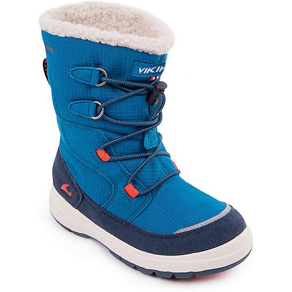 Ботинки Totak GTX VikingБотинки<br>Характеристики товара:<br><br>• цвет: голубой<br>• внешний материал: текстиль, экозамша<br>• внутренний материал: полиэстер<br>• стелька: полиэстер<br>• подошва: натуральная резина<br>• сезон: зима<br>• мембранные <br>• температурный режим: от -25 до +5<br>• особенности модели: спортивный стиль<br>• застежка: шнурки<br>• защита мыса <br>• подошва не скользит<br>• анатомические<br>• высокие<br>• страна бренда: Норвегия<br>• страна изготовитель: Вьетнам<br><br>Утепленные зимние детские ботинки от бренда Viking снабжены удобной застежкой. Мембрана Gore Tex в этих ботинках для детей позволяет ногам дышать, но не пропускает внутрь воду и холод. Детские ботинки легкие и амортизирующие. Эти ботинки Viking для ребенка - со специальной обработкой, повышающей их срок службы.<br><br>Ботинки Totak GTX Viking (Викинг) можно купить в нашем интернет-магазине.<br><br>Ширина мм: 262<br>Глубина мм: 176<br>Высота мм: 97<br>Вес г: 427<br>Цвет: синий<br>Возраст от месяцев: 18<br>Возраст до месяцев: 21<br>Пол: Унисекс<br>Возраст: Детский<br>Размер: 28,27,26,25,24,23,22,30,29<br>SKU: 7169090