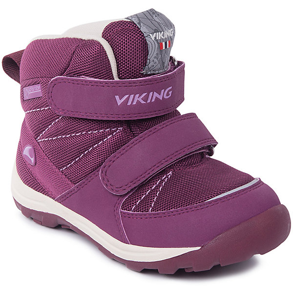 Ботинки Rissa GTX Viking для девочкиБотинки<br>Характеристики товара:<br><br>• цвет: фуксия<br>• внешний материал: текстиль<br>• внутренний материал: полиэстер<br>• стелька: полиэстер<br>• подошва: натуральная резина<br>• сезон: зима<br>• мембранные <br>• температурный режим: от -25 до +5<br>• особенности модели: спортивный стиль<br>• застежка: липучки<br>• защита мыса <br>• подошва не скользит<br>• анатомические<br>• высокие<br>• страна бренда: Норвегия<br>• страна изготовитель: Вьетнам<br><br>Такие ботинки Viking для ребенка - со специальной обработкой, повышающей их срок службы. Утепленные зимние детские ботинки от бренда Viking снабжены удобной застежкой. Мембрана Gore Tex в этих ботинках для детей позволяет ногам дышать, но не пропускает внутрь воду и холод. Детские ботинки легкие и амортизирующие. <br><br>Ботинки Rissa GTX Viking (Викинг) для девочки можно купить в нашем интернет-магазине.<br>Ширина мм: 262; Глубина мм: 176; Высота мм: 97; Вес г: 427; Цвет: розовый; Возраст от месяцев: 15; Возраст до месяцев: 18; Пол: Женский; Возраст: Детский; Размер: 22,30,29,28,27,26,25,24,23; SKU: 7169119;