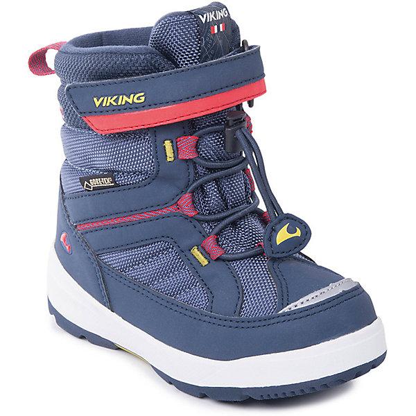 Ботинки Playtime GTX Viking для мальчикаБотинки<br>Характеристики товара:<br><br>• цвет: синий<br>• внешний материал: текстиль<br>• внутренний материал: полиэстер<br>• стелька: полиэстер<br>• подошва: натуральная резина<br>• сезон: зима<br>• мембранные <br>• температурный режим: от -25 до +5<br>• особенности модели: спортивный стиль<br>• застежка: шнурки, липучка<br>• защита мыса <br>• подошва не скользит<br>• анатомические<br>• высокие<br>• страна бренда: Норвегия<br>• страна изготовитель: Вьетнам<br><br>Удобные мембранные ботинки Viking сделаны по новейшей технологии, обеспечивающей их высокое качество и износостойкость. Мембранные ботинки для детей помогут обеспечить ногам тепло и сухость в холода. Эти детские ботинки от Viking обработаны специальным составом, предотвращающим попадание влаги и грязи внутрь. Детские ботинки отличаются легкими материалами.<br><br>Ботинки Playtime GTX Viking (Викинг) для мальчика можно купить в нашем интернет-магазине.<br><br>Ширина мм: 262<br>Глубина мм: 176<br>Высота мм: 97<br>Вес г: 427<br>Цвет: синий<br>Возраст от месяцев: 18<br>Возраст до месяцев: 21<br>Пол: Мужской<br>Возраст: Детский<br>Размер: 23,30,29,28,27,26,25,24<br>SKU: 7169163