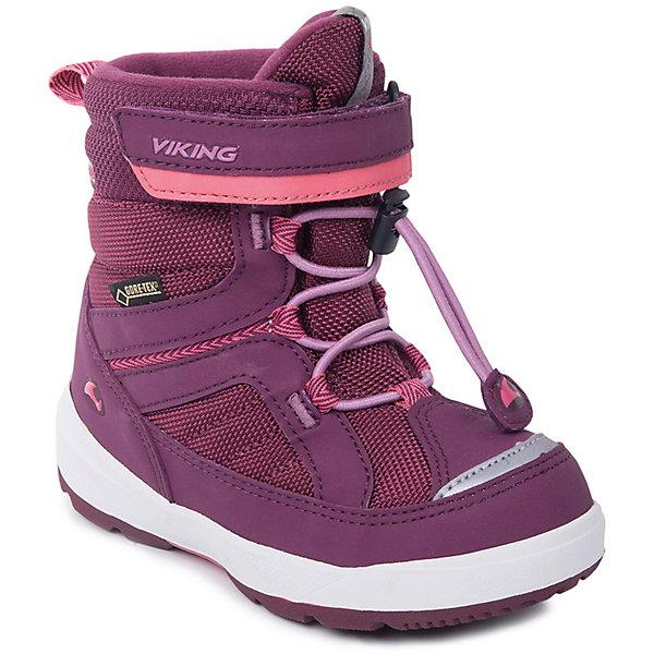 Ботинки Playtime GTX Viking для девочкиБотинки<br>Характеристики товара:<br><br>• цвет: бордовый<br>• внешний материал: текстиль<br>• внутренний материал: полиэстер<br>• стелька: полиэстер<br>• подошва: натуральная резина<br>• сезон: зима<br>• мембранные <br>• температурный режим: от -25 до +5<br>• особенности модели: спортивный стиль<br>• застежка: шнурки, липучка<br>• защита мыса <br>• подошва не скользит<br>• анатомические<br>• высокие<br>• страна бренда: Норвегия<br>• страна изготовитель: Вьетнам<br>• страна изготовитель: Вьетнам<br><br>Яркие ботинки Viking для ребенка - со специальной обработкой, повышающей их срок службы. Утепленные зимние детские ботинки от бренда Viking снабжены удобной застежкой. Мембрана Gore Tex в этих ботинках для детей позволяет ногам дышать, но не пропускает внутрь воду и холод. Детские ботинки легкие и амортизирующие. <br><br>Ботинки Playtime GTX Viking (Викинг) для девочки можно купить в нашем интернет-магазине.<br>Ширина мм: 262; Глубина мм: 176; Высота мм: 97; Вес г: 427; Цвет: бордовый; Возраст от месяцев: 48; Возраст до месяцев: 60; Пол: Женский; Возраст: Детский; Размер: 28,27,26,25,24,23,22,30,29; SKU: 7169181;