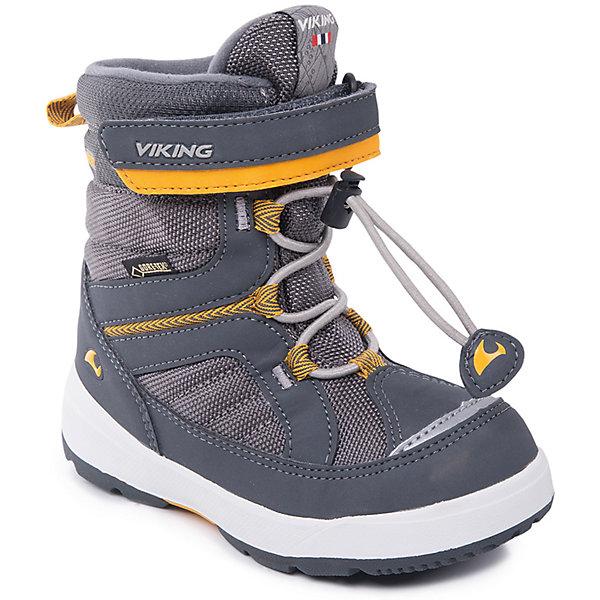 Ботинки Playtime GTX VikingБотинки<br>Характеристики товара:<br><br>• цвет: серый<br>• внешний материал: текстиль<br>• внутренний материал: полиэстер<br>• стелька: полиэстер<br>• подошва: натуральная резина<br>• сезон: зима<br>• мембранные <br>• температурный режим: от -25 до +5<br>• особенности модели: спортивный стиль<br>• застежка: шнурки, липучка<br>• защита мыса <br>• подошва не скользит<br>• анатомические<br>• высокие<br>• страна бренда: Норвегия<br>• страна изготовитель: Вьетнам<br><br>Удобные мембранные ботинки Viking сделаны по новейшей технологии, обеспечивающей их высокое качество и износостойкость. Мембранные ботинки для детей помогут обеспечить ногам тепло и сухость в холода. Эти детские ботинки от Viking обработаны специальным составом, предотвращающим попадание влаги и грязи внутрь. Детские ботинки отличаются легкими материалами.<br><br>Ботинки Playtime GTX Viking (Викинг) можно купить в нашем интернет-магазине.<br><br>Ширина мм: 262<br>Глубина мм: 176<br>Высота мм: 97<br>Вес г: 427<br>Цвет: серый<br>Возраст от месяцев: 24<br>Возраст до месяцев: 36<br>Пол: Унисекс<br>Возраст: Детский<br>Размер: 26,25,24,23,30,29,28,27<br>SKU: 7169191