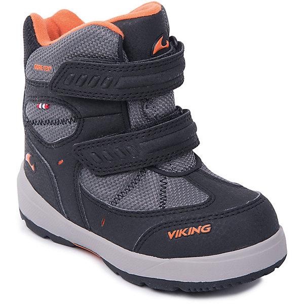 Ботинки Toasty II GTX Viking для мальчикаБотинки<br>Характеристики товара:<br><br>• цвет: черный<br>• внешний материал: текстиль<br>• внутренний материал: полиэстер<br>• стелька: полиэстер<br>• подошва: натуральная резина<br>• сезон: зима<br>• мембранные <br>• температурный режим: от -25 до +5<br>• особенности модели: спортивный стиль<br>• застежка: липучки<br>• защита мыса <br>• подошва не скользит<br>• анатомические<br>• высокие<br>• страна бренда: Норвегия<br>• страна изготовитель: Вьетнам<br><br>Такие мембранные ботинки Viking сделаны по новейшей технологии, обеспечивающей их высокое качество и износостойкость. Мембранные ботинки для детей помогут обеспечить ногам тепло и сухость в холода. Эти детские ботинки от Viking обработаны специальным составом, предотвращающим попадание влаги и грязи внутрь. Детские ботинки отличаются легкими материалами.<br><br>Ботинки Toasty II GTX Viking (Викинг) для мальчика можно купить в нашем интернет-магазине.<br><br>Ширина мм: 262<br>Глубина мм: 176<br>Высота мм: 97<br>Вес г: 427<br>Цвет: черный<br>Возраст от месяцев: 9<br>Возраст до месяцев: 12<br>Пол: Мужской<br>Возраст: Детский<br>Размер: 20,30,29,28,27,26,25,24,23,22,21<br>SKU: 7169251