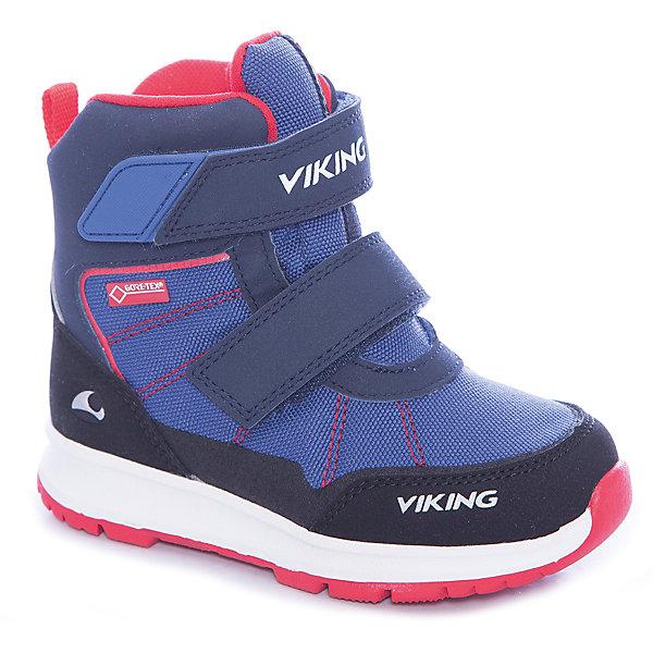 Ботинки Valhest GTX Viking для мальчикаБотинки<br>Характеристики товара:<br><br>• цвет: синий<br>• внешний материал: текстиль<br>• внутренний материал: полиэстер<br>• стелька: полиэстер<br>• подошва: натуральная резина<br>• сезон: зима<br>• мембранные <br>• температурный режим: от -25 до +5<br>• особенности модели: спортивный стиль<br>• застежка: липучки<br>• защита мыса <br>• подошва не скользит<br>• анатомические<br>• высокие<br>• страна бренда: Норвегия<br>• страна изготовитель: Вьетнам<br><br>Эти мембранные ботинки Viking сделаны по новейшей технологии, обеспечивающей их высокое качество и износостойкость. Мембранные ботинки для детей помогут обеспечить ногам тепло и сухость в холода. Эти детские ботинки от Viking обработаны специальным составом, предотвращающим попадание влаги и грязи внутрь. Детские ботинки отличаются легкими материалами.<br><br>Ботинки Valhest GTX Viking (Викинг) для мальчика можно купить в нашем интернет-магазине.<br><br>Ширина мм: 262<br>Глубина мм: 176<br>Высота мм: 97<br>Вес г: 427<br>Цвет: синий<br>Возраст от месяцев: 72<br>Возраст до месяцев: 84<br>Пол: Мужской<br>Возраст: Детский<br>Размер: 30,23,24,25,26,27,28,29<br>SKU: 7169287