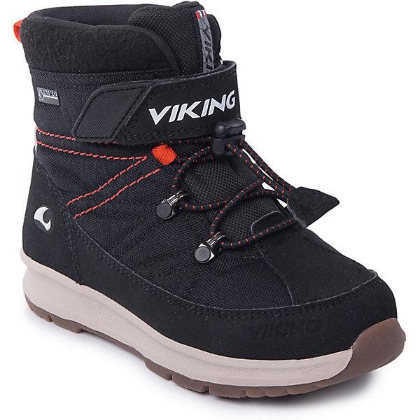 Ботинки Sokna GTX Viking для мальчикаБотинки<br>Характеристики товара:<br><br>• цвет: черный<br>• внешний материал: текстиль<br>• внутренний материал: полиэстер<br>• стелька: полиэстер<br>• подошва: натуральная резина<br>• сезон: зима<br>• мембранные <br>• температурный режим: от -25 до +5<br>• особенности модели: спортивный стиль<br>• застежка: липучка, шнурки<br>• защита мыса <br>• подошва не скользит<br>• анатомические<br>• высокие<br>• страна бренда: Норвегия<br>• страна изготовитель: Вьетнам<br><br>Практичные ботинки Viking для ребенка - со специальной обработкой, повышающей их срок службы. Утепленные зимние детские ботинки от бренда Viking снабжены удобной застежкой. Мембрана Gore Tex в этих ботинках для детей позволяет ногам дышать, но не пропускает внутрь воду и холод. Детские ботинки легкие и амортизирующие. <br><br>Ботинки Sokna GTX Viking (Викинг) для мальчика можно купить в нашем интернет-магазине.<br>Ширина мм: 262; Глубина мм: 176; Высота мм: 97; Вес г: 427; Цвет: черный; Возраст от месяцев: 60; Возраст до месяцев: 72; Пол: Мужской; Возраст: Детский; Размер: 29,28,27,26,25,24,23,30; SKU: 7169306;