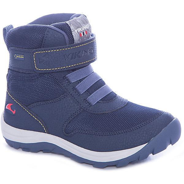 Ботинки Hamar GTX Viking для мальчикаБотинки<br>Характеристики товара:<br><br>• цвет: синий<br>• внешний материал: текстиль<br>• внутренний материал: полиэстер<br>• стелька: полиэстер<br>• подошва: натуральная резина<br>• сезон: зима<br>• мембранные <br>• температурный режим: от -25 до +5<br>• особенности модели: спортивный стиль<br>• застежка: липучка<br>• защита мыса <br>• подошва не скользит<br>• анатомические<br>• высокие<br>• страна бренда: Норвегия<br>• страна изготовитель: Вьетнам<br><br>Синие мембранные ботинки для детей помогут обеспечить ногам тепло и сухость в холода. Эти мембранные ботинки Viking сделаны по новейшей технологии, обеспечивающей их высокое качество и износостойкость. Детские ботинки от Viking обработаны специальным составом, предотвращающим попадание влаги и грязи внутрь. Детские ботинки отличаются легкими материалами.<br><br>Ботинки Hamar GTX Viking (Викинг) для мальчика можно купить в нашем интернет-магазине.<br>Ширина мм: 262; Глубина мм: 176; Высота мм: 97; Вес г: 427; Цвет: синий; Возраст от месяцев: 72; Возраст до месяцев: 84; Пол: Мужской; Возраст: Детский; Размер: 30,39,38,37,36,34,35,33,32,31; SKU: 7169342;