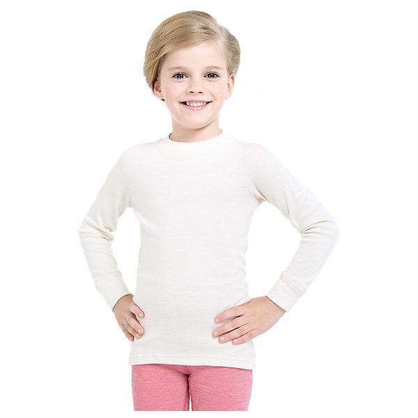 Футболка с длинным рукавом Norveg для девочкиФутболки с длинным рукавом<br>Характеристики товара:<br><br>• цвет: белый<br>• состав ткани: 100% шерсть мериносов<br>• подкладка: нет<br>• сезон: демисезон<br>• температурный режим: от -20 до +20<br>• длинные рукава<br>• страна бренда: Германия<br>• страна изготовитель: Германия<br><br>Стильный детский лонгслив из серии Soft Offwhite поможет защитить ребенка от замерзания или перегреве в морозы до - 20 градусов. Материал детской термофутболки - натуральная шерсть мериносов, гипоаллергенная и дышащая. Мягкая легкая ткань приятна на ощупь. <br><br>Лонгслив Norveg (Норвег) можно купить в нашем интернет-магазине.<br><br>Ширина мм: 199<br>Глубина мм: 10<br>Высота мм: 161<br>Вес г: 151<br>Цвет: бежевый<br>Возраст от месяцев: 72<br>Возраст до месяцев: 84<br>Пол: Женский<br>Возраст: Детский<br>Размер: 116/122,128/134,104/110,92/98,80/86,68/74<br>SKU: 7169734