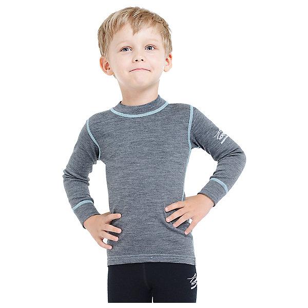 Футболка с длинным рукавом Norveg для мальчикаФутболки с длинным рукавом<br>Характеристики товара:<br><br>• цвет: серый<br>• состав ткани: 100% шерсть мериносов<br>• подкладка: нет<br>• сезон: демисезон<br>• температурный режим: от -20 до +20<br>• длинные рукава<br>• страна бренда: Германия<br>• страна изготовитель: Германия<br><br>Удобный детский лонгслив из серии Soft Offwhite поможет защитить ребенка от замерзания или перегреве в морозы до - 20 градусов. Материал детской термофутболки - натуральная шерсть мериносов, гипоаллергенная и дышащая. Мягкая легкая ткань приятна на ощупь. <br><br>Лонгслив Norveg (Норвег) можно купить в нашем интернет-магазине.<br><br>Ширина мм: 199<br>Глубина мм: 10<br>Высота мм: 161<br>Вес г: 151<br>Цвет: серый<br>Возраст от месяцев: 96<br>Возраст до месяцев: 108<br>Пол: Мужской<br>Возраст: Детский<br>Размер: 128/134,116/122,104/110,92/98,80/86<br>SKU: 7169850