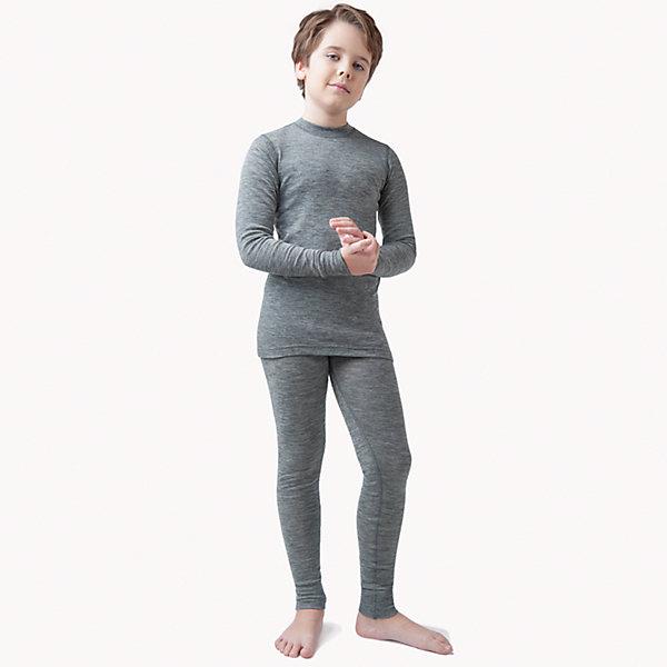 Комплект Island Cup для мальчикаКомплекты<br>Характеристики товара:<br><br>• цвет: серый<br>• комплектация: лонгслив и рейтузы<br>• состав ткани: 100% шерсть <br>• подкладка: нет<br>• сезон: демисезон<br>• температурный режим: от -20 до +5<br>• пояс: резинка<br>• длинные рукава<br>• страна бренда: Германия<br>• страна изготовитель: Германия<br><br>Такое термобелье для ребенка выполнено в практичном универсальном цвете. Качественный материал комплекта термобелья для детей позволяет коже дышать и впитывает лишнюю влагу. Детский комплект термобелья легко надевается благодаря эластичному материалу. <br><br>Комплект Island Cup Norveg (Норвег) можно купить в нашем интернет-магазине.<br>Ширина мм: 190; Глубина мм: 74; Высота мм: 229; Вес г: 236; Цвет: серый; Возраст от месяцев: 24; Возраст до месяцев: 36; Пол: Мужской; Возраст: Детский; Размер: 92/98,104/110,116/122,128/134,140/146,152/158,80/86; SKU: 7169871;