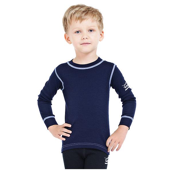 Футболка с длинным рукавом Norveg для мальчикаФутболки с длинным рукавом<br>Характеристики товара:<br><br>• цвет: синий<br>• состав ткани: 100% шерсть мериносов<br>• подкладка: нет<br>• сезон: демисезон<br>• температурный режим: от -20 до +20<br>• длинные рукава<br>• страна бренда: Германия<br>• страна изготовитель: Германия<br><br>Удобный детский лонгслив из серии Soft Offwhite поможет защитить ребенка от замерзания или перегреве в морозы до - 20 градусов. Материал детской термофутболки - натуральная шерсть мериносов, гипоаллергенная и дышащая. Мягкая легкая ткань приятна на ощупь. <br><br>Лонгслив Norveg (Норвег) можно купить в нашем интернет-магазине.<br><br>Ширина мм: 199<br>Глубина мм: 10<br>Высота мм: 161<br>Вес г: 151<br>Цвет: синий<br>Возраст от месяцев: 48<br>Возраст до месяцев: 60<br>Пол: Мужской<br>Возраст: Детский<br>Размер: 104/110,92/98,80/86,68/74,128/134,116/122<br>SKU: 7169925
