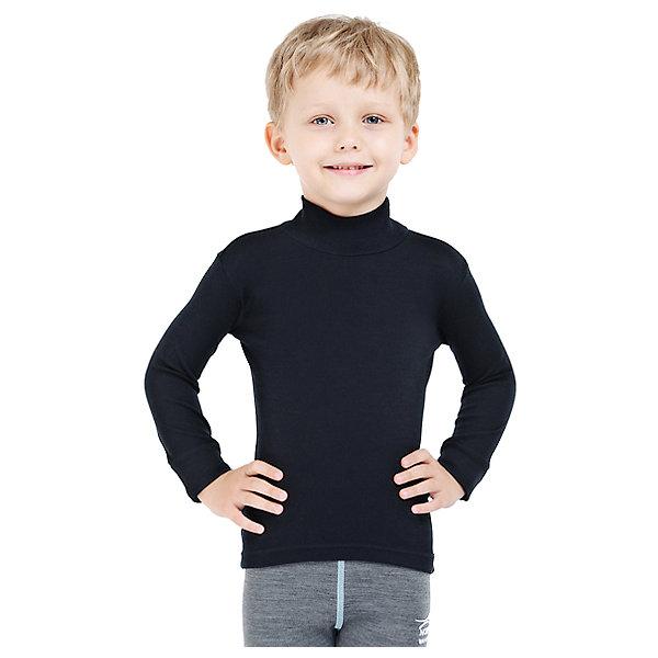 Водолазка Norveg для мальчикаФлис и термобелье<br>Характеристики товара:<br><br>• цвет: черный<br>• состав ткани: 100 % шерсть мериносов<br>• подкладка: нет<br>• сезон: демисезон<br>• температурный режим: от -20 до +15<br>• длинные рукава<br>• страна бренда: Германия<br>• страна изготовитель: Германия<br><br>Теплая термоводолазка для ребенка - из серии Soft City Style.Эту термоводолазку можно надевать как нижний слой в морозы до - 20 градусов. Натуральный материал этого термобелья для детей позволяет создать комфортный микроклимат в холода.<br><br>Водолазку Norveg (Норвег) можно купить в нашем интернет-магазине.<br><br>Ширина мм: 190<br>Глубина мм: 74<br>Высота мм: 229<br>Вес г: 236<br>Цвет: черный<br>Возраст от месяцев: 12<br>Возраст до месяцев: 18<br>Пол: Мужской<br>Возраст: Детский<br>Размер: 80/86,104/110,92/98,128/134,116/122<br>SKU: 7170019