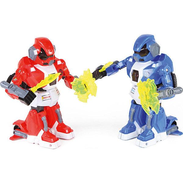 Роботы на радиоуправлении Yako Toys, красный/синий (свет, звук, движение)Роботы<br>Характеристики товара:<br><br>• возраст: от 3 лет;<br>• цвет: красный/синий;<br>• размер игрушки: 26х50х14 см.;<br>• комплект: 2 робота, 4 пульта управления, аккумуляторы, зарядные устройства;<br>• тип батареек для пульта:  9V типа Крона (в комплекте);<br>• тип батареек для робота:  ААх2 (нет в комплекте);<br>• состав: пластмасса, металл;<br>• вес упаковки: 1,2 кг.;<br>• упаковка: коробка блистерного типа;<br>• бренд, страна: Yako Toys, Китай;<br>• страна-производитель: Китай.<br><br>Роботы на радиоуправлении от торговой марки  Yako Toys представляет собой потрясающий игровой набор из двух фигурок, выполненных в виде фантастических воинов, которые помогут ребенку придумать множество увлекательных приключенческих игр вместе со всвоими друзьями. <br><br>Большую реалистичность игре придадут специальные функциональные возможности, встроенные в игрушки. Движениями игрушечных воителей можно управлять с помощью двух пультов. Кроме того, игровой процесс смогут отлично дополнить световые и звуковые эффекты.<br><br>Игрушки от бренда от Yako Toys отличаются яркостью цвета, который со временем не тускнее и выполнены из высокачественного гипоаллергенного материала безвредного для детского здоровья.<br><br>Сюжетно-ролевые игры помогают детям развивать воображение, образное мышление, логику, а также увеличивать словарный запас.<br><br>Роботов на радиоуправлении, 2 шт., Yako Toys (Яко Тойз)  можно купить в нашем интернет-магазине.<br><br>Ширина мм: 490<br>Глубина мм: 260<br>Высота мм: 160<br>Вес г: 1200<br>Возраст от месяцев: 36<br>Возраст до месяцев: 60<br>Пол: Мужской<br>Возраст: Детский<br>SKU: 7172262