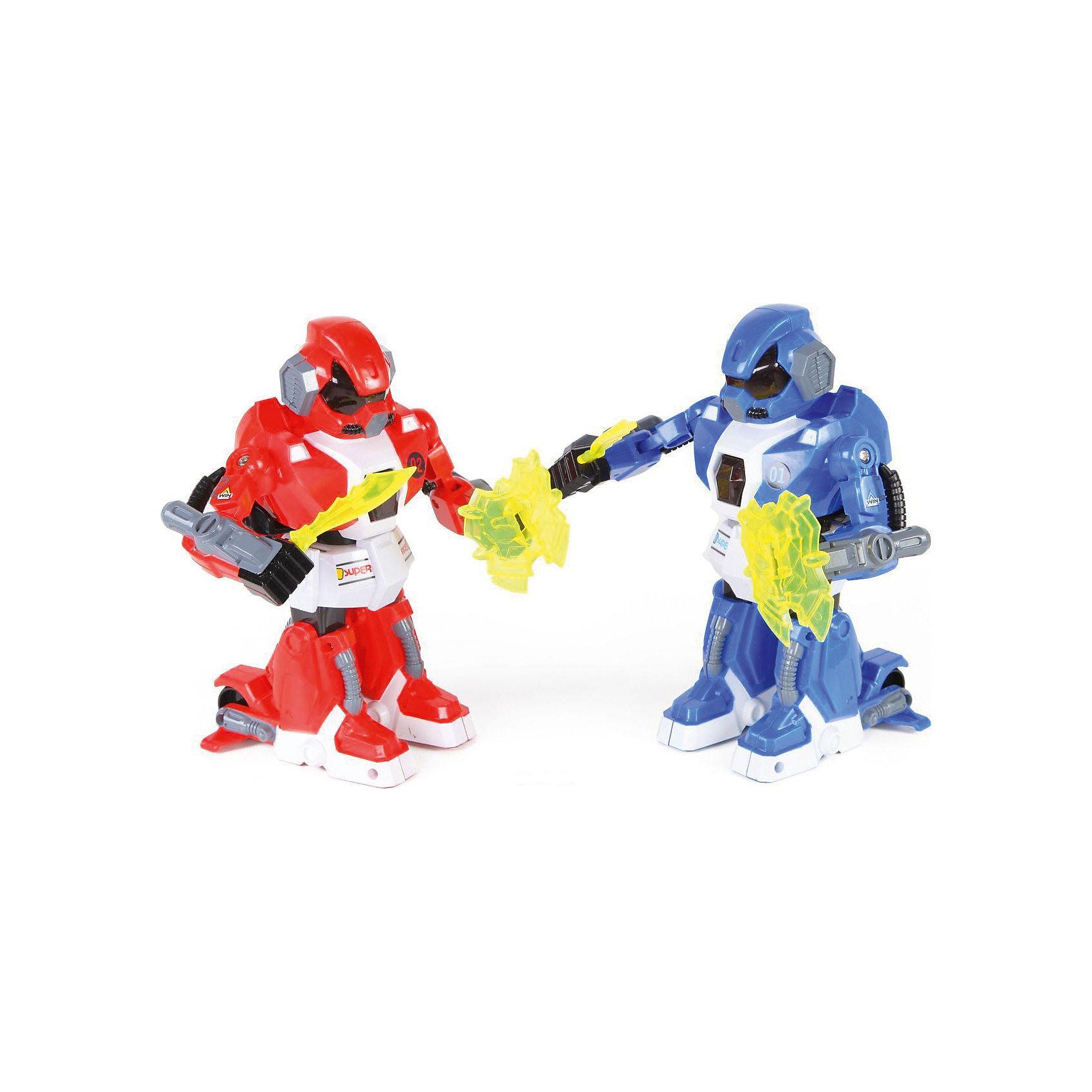 Роботы на радиоуправлении Yako Toys, красный/синий (свет, звук, движение)Роботы<br>Питание: 9V в пульт.  Аккумулятор. Управление роботом производится с помощью 2-х сенсорных пультов, зажатых в кулаки - движением, встряхиванием пультов…<br><br>Ширина мм: 490<br>Глубина мм: 260<br>Высота мм: 160<br>Вес г: 1200<br>Возраст от месяцев: 36<br>Возраст до месяцев: 60<br>Пол: Мужской<br>Возраст: Детский<br>SKU: 7172262