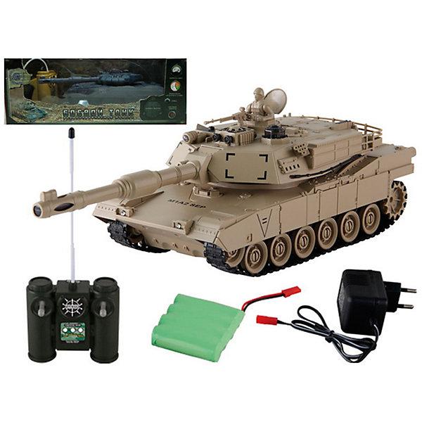 Радиоуправляемая игрушка Yako Toys Боевой танк М1А2 Абрамс, 1:24 (в ассортименте)Радиоуправляемые танки<br>Характеристики товара:<br><br>• возраст: от 5 лет;<br>• цвет: бежевый;<br>• масштаб: 1:24;<br>• комплект: 1 танк, пульт управления, аккумулятор, зарядное устройство;<br>• время игры: 15-20 мин., время зарядки: 4 часа;<br>• радиус действия пульта: 12 м., частота: 27 МГц.;<br>• скорость танка: 6 км / ч.<br>• питание машинки: аккумулятор Ni Cd 600 mAh 4.8V.<br>• тип батареек для пульта: 2 x AA / LR6 1.5V (пальчиковые).<br>• наличие батареек для пульта: не входят в комплект;<br>• состав: пластик, металл;<br>• размер упаковки: 19х41х16 см.;<br>• вес: 1,3 кг.;<br>• упаковка: картонная коробка блистерного типа;<br>• бренд, страна: Yako Toys, Китай;<br>• страна-производитель: Китай.<br><br>Боевой танк «М1А2 Абрамс» на радиоуправлении от торговой марки  Yako Toys представляет собой игрушку, выполненную в масштабе 1:24.<br><br>«М1А2 Абрамс» – модель боевого американского танка, который стоит на вооружении многих стран мира. Модель отличается высокой проходимостью и способна подниматься на поверхность с уклоном 45 градусов. <br><br>Также главной отличительной способностью танка является его инфракрасная пушка, которая разворачивается на 320 градусов и стреляет маленькими пластиковыми снарядами (не входят в комплект). После выстрела танк откатывается назад совсем как настоящий. Радиус действия пульта 12 метров, что позволяет управлять танком на достаточно большом расстоянии. <br><br>Реалистичный дизайн и все функции игрушки приведут в восторг любого мальчика и поклонника боевой техники.Игрушки от бренда от Yako Toys выполнены из высокачественного материала безвредного для детского здоровья.<br><br>Боевой танк «М1А2 Абрамс» на радиоуправлении, бежевый, Yako Toys (Яко Тойз)  можно купить в нашем интернет-магазине.<br><br>Ширина мм: 410<br>Глубина мм: 190<br>Высота мм: 160<br>Вес г: 1300<br>Возраст от месяцев: 36<br>Возраст до месяцев: 72<br>Пол: Мужской<br>Возраст: Детский<b