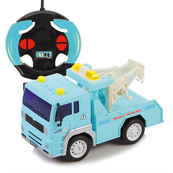 Радиоуправляемая машинка Yako Toys ЭвакуаторРадиоуправляемые машины<br>Характеристики товара:<br><br>• возраст: от 5 лет;<br>• цвет: голубой;<br>• масштаб: 1:24;<br>• комплект: машинка, пульт управления;<br>• используемая частота: 27 МГц;<br>• тип питания машинки: 3 x AAA / LR0.3 1.5V (мизинчиковые);<br>• тип питания пульта: 2 x AA / LR6 1.5V (пальчиковые);<br>• наличие батареек: не входят в комплект;<br>• состав: пластик, металл;<br>• размер упаковки: 16х30х14 см.;<br>• вес в упаковке: 600 гр.;<br>• упаковка: картонная коробка блистерного типа;<br>• бренд, страна: Yako Toys, Китай;<br>• страна-производитель: Китай.<br><br>Машинка «Эвакуатор» на радиоуправлении от торговой марки  Yako Toys представляет представляет собой игрушку для мальчиков, которая имеет четырехканальное движение. Пульт представлен в виде руля, поэтому ребенку будет интересно воображать, будто это он сам водит и управляет этой машиной. Эвакуатор играет очень большую роль, он прибудет всегда вовремя на место происшествия и поможет в любой ситуации. <br><br>Две стрелы на машинке могут двигаться влево и вправо, а при движении вперед загораются фары. Также у данной машинки имеются резиновые зеркала заднего вида.<br><br>Реалистичный дизайн и все функции игрушки приведут в восторг любого мальчика и поклонника автотранспорта. Игрушки от бренда от Yako Toys выполнены из высокачественного материала безвредного для детского здоровья.<br><br>Машинку «Эвакуатор» на радиоуправлении, 1:24, цвет голубой, Yako Toys (Яко Тойз)  можно купить в нашем интернет-магазине.<br>Ширина мм: 300; Глубина мм: 160; Высота мм: 140; Вес г: 600; Возраст от месяцев: 36; Возраст до месяцев: 72; Пол: Мужской; Возраст: Детский; SKU: 7172275;