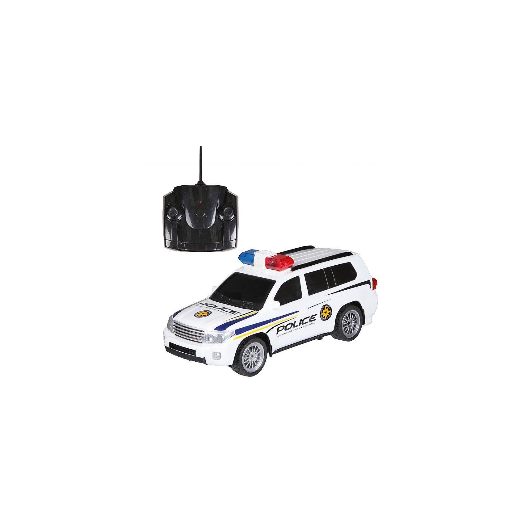 Радиоуправляемая машинка Yako Toys Полицеский джипРадиоуправляемые машины<br>Питание: 4*АА, 2*АА - в пульт. Движение во все стороны, свет.<br><br>Ширина мм: 440<br>Глубина мм: 180<br>Высота мм: 170<br>Вес г: 1170<br>Возраст от месяцев: 36<br>Возраст до месяцев: 72<br>Пол: Мужской<br>Возраст: Детский<br>SKU: 7172276