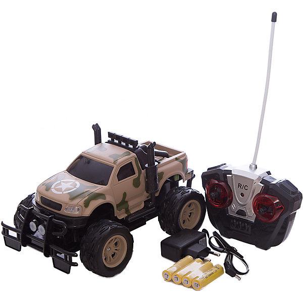 Радиоуправляемая машинка Yako Toys Военный джипРадиоуправляемые машины<br>Характеристики товара:<br><br>• возраст: от 5 лет;<br>• цвет: бежевый камуфляж;<br>• масштаб: 1:16;<br>• комплект: машинка, пульт управления;<br>• используемая частота: 27 МГц;<br>• тип питания машинки: 4 x AA /1.2V (входят в ккомплект);<br>• тип питания пульта: 2 x AA /1.5V (не входят в комплект);<br>• состав: пластик, металл;<br>• размер машинки: 15х25х15,5 см.;<br>• вес в упаковке: 1 кг.;<br>• упаковка: картонная коробка блистерного типа;<br>• бренд, страна: Yako Toys, Китай;<br>• страна-производитель: Китай.<br><br>Машинка «Внедорожник» на радиоуправлении от торговой марки  Yako Toys представляет представляет собой мощный джип камуфляжной расцветки, который позволит придумать немало сюжетных игр.<br><br>Две стрелы на машинке могут двигаться влево и вправо, а при движении вперед загораются фары. <br><br>Реалистичный дизайн и все функции игрушки приведут в восторг любого мальчика и поклонника автотранспорта. Игрушки от бренда от Yako Toys выполнены из высокачественного материала безвредного для детского здоровья.<br><br>Машинку «Эвакуатор» на радиоуправлении, 1:24, цвет голубой, Yako Toys (Яко Тойз)  можно купить в нашем интернет-магазине.<br>Ширина мм: 330; Глубина мм: 190; Высота мм: 180; Вес г: 1000; Возраст от месяцев: 36; Возраст до месяцев: 72; Пол: Мужской; Возраст: Детский; SKU: 7172277;
