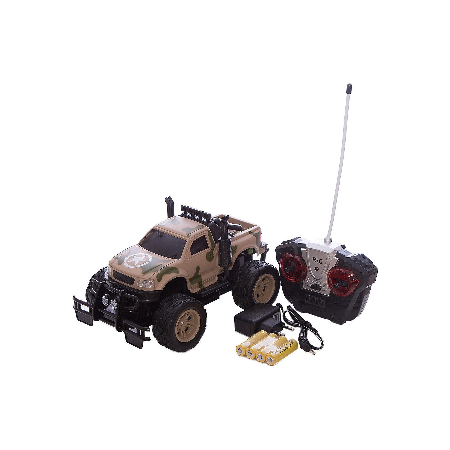 Радиоуправляемая машинка Yako Toys Военный джипРадиоуправляемые машины<br>Размер машинки:Ширина - 25 Глубина - 15 Высота - 15,5<br>В комплект входит 4 аккумуляторные батарейки 1,2V АА.В пульт необходимы 2 батарейки 1,5V АА (в комплект не входят).Возраст +6, радиоуправляемая, свет фар.<br><br>Ширина мм: 330<br>Глубина мм: 190<br>Высота мм: 180<br>Вес г: 1000<br>Возраст от месяцев: 36<br>Возраст до месяцев: 72<br>Пол: Мужской<br>Возраст: Детский<br>SKU: 7172277