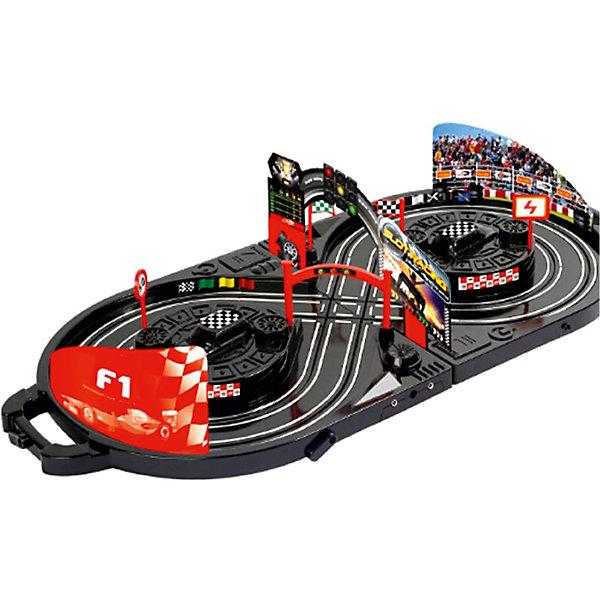 Автотрек Yako Toys Slot RacingАвтотреки<br>Характеристики товара:<br><br>• возраст: от 5 лет;<br>• комплект: 2 гоночные машины, светофор, 2 знака, 2 флага, 4 запасные шины, 3 карты, 2 ручных генератора;<br>• размер трека: 170 см.;<br>• батарейки для двух машинок: 8 x AA / LR6 1.5V (не входят в комплект);<br>• состав: пластик, металл, резина;<br>• размер в упаковке: 34х35х10 см.;<br>• вес в упаковке: 1,5 кг.;<br>• упаковка: чемоданчик;<br>• бренд, страна: Yako Toys, Китай;<br>• страна-производитель: Китай.<br><br>Игровой набор «Автотрек в чемодане» состоит из платформы, где проводятся гонки, двух стильных машинок и различных аксессуаров, которые понадобятся во время гонок. Ручной генератор поможет легко управлять машинками и надолго завладеет вниманием ребенка.<br><br>Набор позволит собрать целый трек для проведения спортивных состязаний и позволит устраивать настоящие бои на машинах вместе с друзьями. Длинный и развитой трек выполнен довольно детально и в красочных цветах и со множеством аксессуаров.<br><br>Реалистичный дизайн и все функции игрушки приведут в восторг любого мальчика и поклонника автотранспорта.Игрушки от бренда от Yako Toys выполнены из высокачественного материала безвредного для детского здоровья.<br><br>Игровой набор «Автотрек в чемодане»,170 см, Yako Toys (Яко Тойз)  можно купить в нашем интернет-магазине.<br><br>Ширина мм: 360<br>Глубина мм: 110<br>Высота мм: 390<br>Вес г: 1500<br>Возраст от месяцев: 36<br>Возраст до месяцев: 72<br>Пол: Мужской<br>Возраст: Детский<br>SKU: 7172281