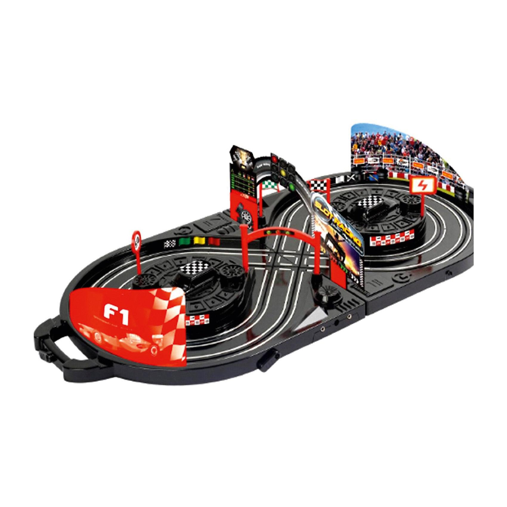 Автотрек Yako Toys Slot RacingАвтотреки<br>Автотрек. В чемодане. Размер в сборе: 76*36 см.<br><br>Ширина мм: 360<br>Глубина мм: 110<br>Высота мм: 390<br>Вес г: 1500<br>Возраст от месяцев: 36<br>Возраст до месяцев: 72<br>Пол: Мужской<br>Возраст: Детский<br>SKU: 7172281