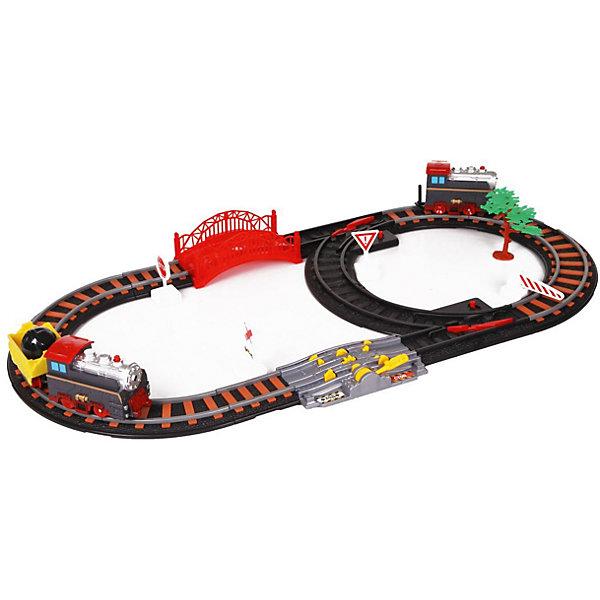 Железная дорога Yako Toys Останови крушение!, 2 стрелки, механизм остановки, семафорЖелезные дороги<br>Характеристики товара:<br><br>• возраст: от 5 лет;<br>• комплект: 2 поезда, трек и аксессуары;<br>• батарейки: 2 x AA / LR6 1.5V (не входят в комплект);<br>• состав: пластик, металл, резина;<br>• размер в упаковке: 34х52х10 см.;<br>• вес в упаковке: 1,2 кг.;<br>• упаковка: картонная коробка;<br>• бренд, страна: Yako Toys, Китай;<br>• страна-производитель: Китай.<br><br>Игровой набор «Железная дорога. Останови крушение» состоит из 2 путей и 2 поездов: скоростной локомотив и паровоз с вагоном, также в наборе 2 стрелки и механизм остановки семафором.<br><br>Поезда двигаются самостоятельно. Железная дорога работает на батарейках. Направление поездов может регулироваться посредством поворотников, расположенных на перекрестках путей.<br><br>Реалистичный дизайн и все функции набора приведут в восторг любого ребенка и поможет придумать множество увлекательных игр вместе с друзьями. Игрушки от бренда от Yako Toys выполнены из высокачественного материала безвредного для детского здоровья.<br><br>Игровой набор «Железная дорога. Останови крушение» Yako Toys (Яко Тойз)  можно купить в нашем интернет-магазине.<br><br>Ширина мм: 520<br>Глубина мм: 340<br>Высота мм: 90<br>Вес г: 1160<br>Возраст от месяцев: 36<br>Возраст до месяцев: 72<br>Пол: Мужской<br>Возраст: Детский<br>SKU: 7172282