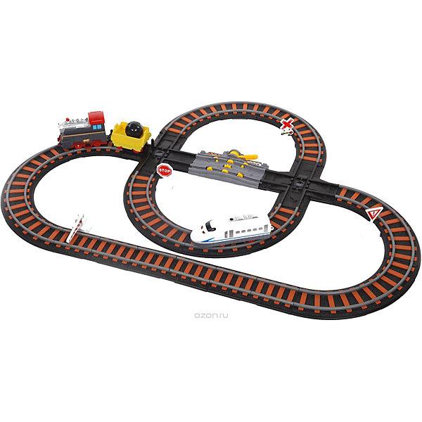 Железная дорога Yako Toys Останови крушение!, 2 перекрестка, механизм остановкиЖелезные дороги<br>Характеристики товара:<br><br>• возраст: от 5 лет;<br>• комплект: железная дорога, поезд, паровоз, вагон, аксессуары, семафор;<br>• батарейки: 2 x AA / LR6 1.5V (не входят в комплект);<br>• состав: пластик, металл, резина;<br>• размер в упаковке: 25х30х17 см.;<br>• вес в упаковке: 1,2 кг.;<br>• упаковка: картонная коробка;<br>• бренд, страна: Yako Toys, Китай;<br>• страна-производитель: Китай.<br><br>Игровой набор «Железная дорога. Останови крушение» состоит из 2 путей и 2 поездов: скоростной локомотив и паровоз с вагоном, также в наборе 2 стрелки и механизм остановки семафором.<br><br>Поезда двигаются самостоятельно. Железная дорога работает на батарейках. Направление поездов может регулироваться посредством поворотников, расположенных на перекрестках путей.<br><br>Реалистичный дизайн и все функции набора приведут в восторг любого ребенка и поможет придумать множество увлекательных игр вместе с друзьями. Игрушки от бренда от Yako Toys выполнены из высокачественного материала безвредного для детского здоровья.<br><br>Игровой набор «Железная дорога. Останови крушение», два яруса, Yako Toys (Яко Тойз)  можно купить в нашем интернет-магазине.<br><br>Ширина мм: 250<br>Глубина мм: 300<br>Высота мм: 170<br>Вес г: 1160<br>Возраст от месяцев: 36<br>Возраст до месяцев: 72<br>Пол: Мужской<br>Возраст: Детский<br>SKU: 7172284