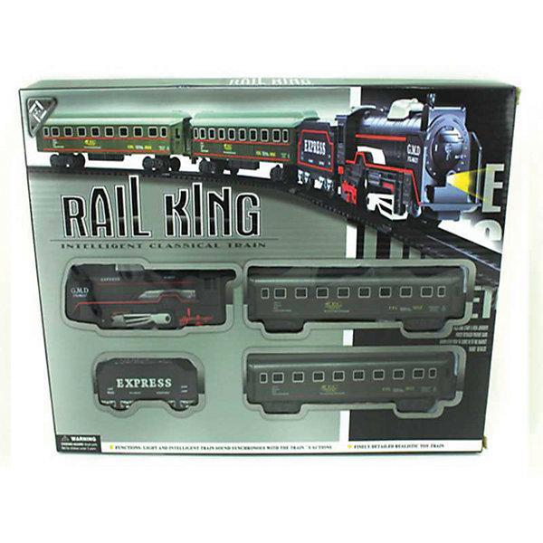 Железная дорога Yako Toys Rail KingЖелезные дороги<br>Характеристики товара:<br><br>• возраст: от 5 лет;<br>• комплект: локомотив, 3 вагона, элементы рельс;<br>• батарейки: 2 x AA / LR6 1.5V (не входят в комплект);<br>• состав: пластик, металл;<br>• размеры ж/д пути: 104х68 см.;<br>• размер в упаковке: 24х25х4 см.;<br>• вес в упаковке: 450 гр.;<br>• упаковка: картонная коробка;<br>• бренд, страна: Yako Toys, Китай;<br>• страна-производитель: Китай.<br><br>Игровой набор «Железная дорога» включает в себя локомотив и три товарных вагона. Придумав различные сюжеты, ребенок сможет ощутить себя в роли машиниста поезда и увлекательно провести время с друзьями.<br><br>Железная дорога работает на батарейках. С помощью звуковых эффектов можно услышат шум поезда. Направление поездов может регулироваться посредством поворотников, расположенных на перекрестках путей.<br><br>Реалистичный дизайн и все функции набора приведут в восторг любого ребенка и поможет придумать множество увлекательных игр вместе с друзьями. Игрушки от бренда от Yako Toys выполнены из высокачественного материала безвредного для детского здоровья.<br><br>Игровой набор «Железная дорога», 104х68 см., Yako Toys (Яко Тойз)  можно купить в нашем интернет-магазине.<br>Ширина мм: 240; Глубина мм: 250; Высота мм: 40; Вес г: 450; Возраст от месяцев: 36; Возраст до месяцев: 72; Пол: Мужской; Возраст: Детский; SKU: 7172285;