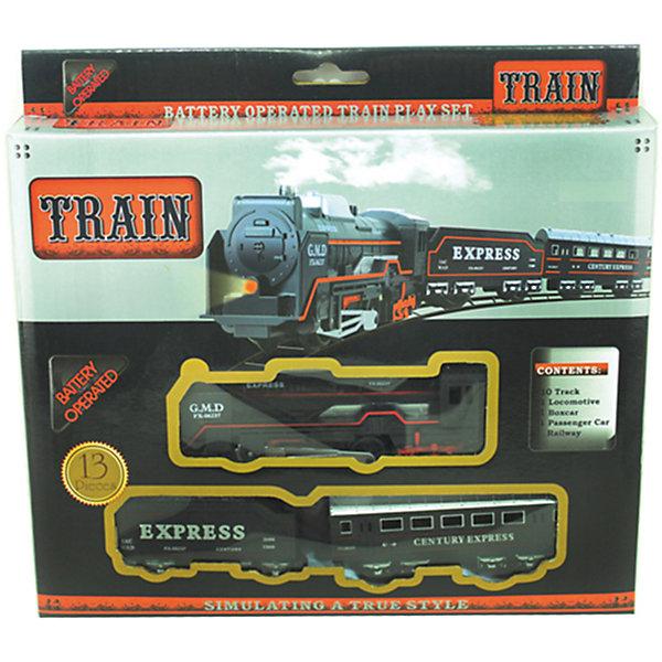 Железная дорога Yako Toys Express TrainЖелезные дороги<br>Характеристики товара:<br><br>• возраст: от 5 лет;<br>• комплект: локомотив, 2 вагона, 10 элементов железной дороги;<br>• батарейки: 2 x AA / LR6 1.5V (не входят в комплект);<br>• состав: пластик, металл;<br>• размеры ж/д пути: 104х68 см.;<br>• размер в упаковке: 24х25х4 см.;<br>• вес в упаковке: 300 гр.;<br>• упаковка: картонная коробка;<br>• бренд, страна: Yako Toys, Китай;<br>• страна-производитель: Китай.<br><br>Игровой набор «Железная дорога» - это набор, состоящий из 10 элементов железнодорожного полотна, локомотива и двух вагонов. Игрушечный поезд имеет огромное сходство с настоящим железнодорожным составом и выполнен в реалистичных цветах. <br><br>Движения поезда осуществляется при помощи батареек, это сделает игру увлекательной и поможет ребенку придумать множество захватывающих сюжетов.<br><br>Реалистичный дизайн и все функции набора приведут в восторг любого ребенка и поможет придумать множество увлекательных игр вместе с друзьями. Игрушки от бренда от Yako Toys выполнены из высокачественного материала безвредного для детского здоровья.<br><br>Игровой набор «Железная дорога», 104х68 см., Yako Toys (Яко Тойз)  можно купить в нашем интернет-магазине.<br><br>Ширина мм: 240<br>Глубина мм: 250<br>Высота мм: 40<br>Вес г: 300<br>Возраст от месяцев: 36<br>Возраст до месяцев: 72<br>Пол: Мужской<br>Возраст: Детский<br>SKU: 7172286