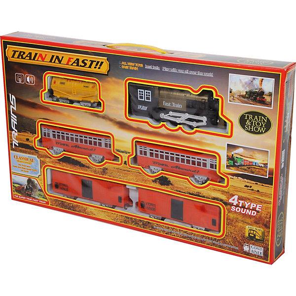 Железная дорога Yako Toys Train in FastЖелезные дороги<br>Характеристики товара:<br><br>• возраст: от 5 лет;<br>• комплект: локомотив, 2 вагона, 10 элементов железной дороги;<br>• батарейки: 2 x AA / LR6 1.5V (не входят в комплект);<br>• состав: пластик, металл;<br>• размер в упаковке: 66х40х7 см.;<br>• вес в упаковке: 1,7 кг.;<br>• упаковка: картонная коробка;<br>• бренд, страна: Yako Toys, Китай;<br>• страна-производитель: Китай.<br><br>Игровой набор «Железная дорога» - поможет собрать длинный железнодорожный путь, а затем запустить по нему состав. Данная игрушка оснащена звуковыми эффектами, благодаря которым игровой процесс будет намного увлекательнее и интереснее.<br><br>Движения поезда осуществляется при помощи батареек, это сделает игру увлекательной и поможет ребенку придумать множество захватывающих сюжетов.<br><br>Реалистичный дизайн и все функции набора приведут в восторг любого ребенка и поможет придумать множество увлекательных игр вместе с друзьями. Игрушки от бренда от Yako Toys выполнены из высокачественного материала безвредного для детского здоровья.<br><br>Игровой набор «Железная дорога» Yako Toys (Яко Тойз)  можно купить в нашем интернет-магазине.<br>Ширина мм: 660; Глубина мм: 400; Высота мм: 70; Вес г: 1640; Возраст от месяцев: 36; Возраст до месяцев: 72; Пол: Мужской; Возраст: Детский; SKU: 7172287;